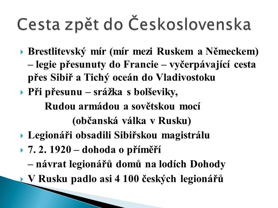 Cesta zpět do Československa