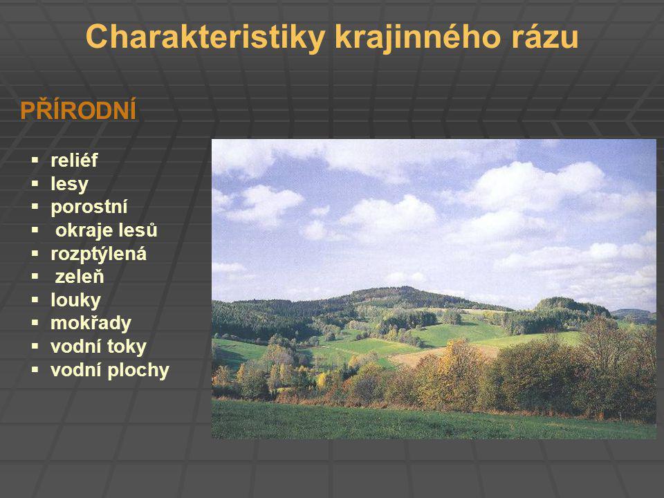 Charakteristiky krajinného rázu