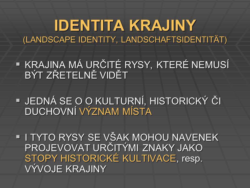 IDENTITA KRAJINY (LANDSCAPE IDENTITY, LANDSCHAFTSIDENTITÄT)