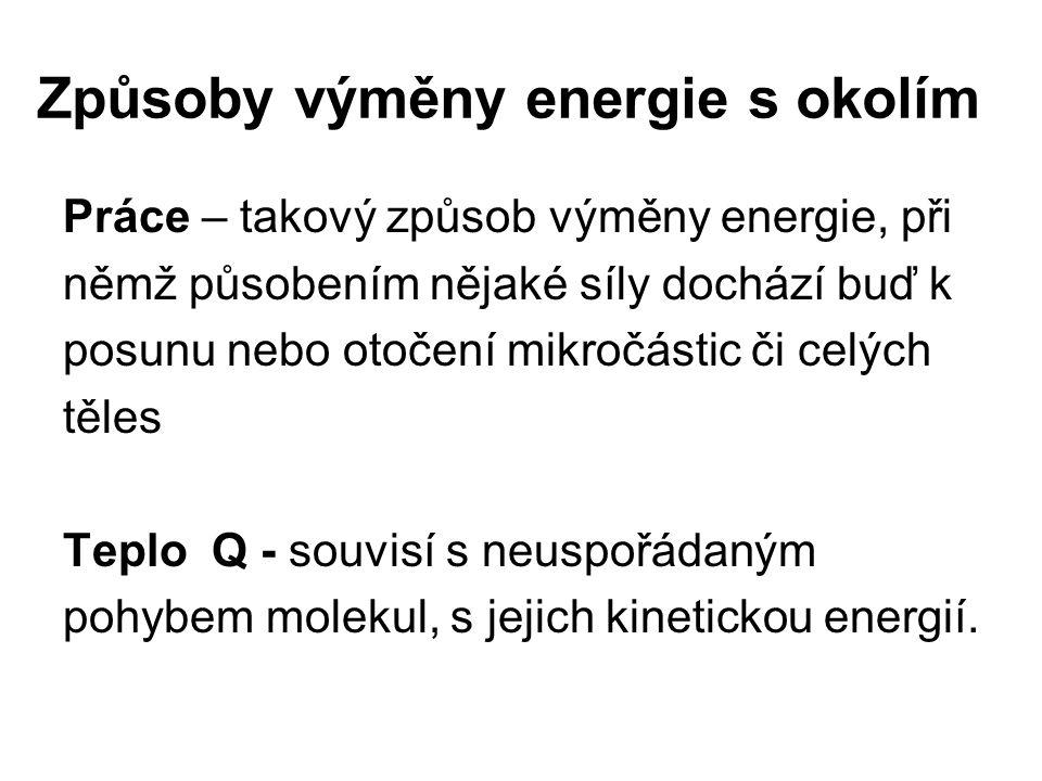 Způsoby výměny energie s okolím