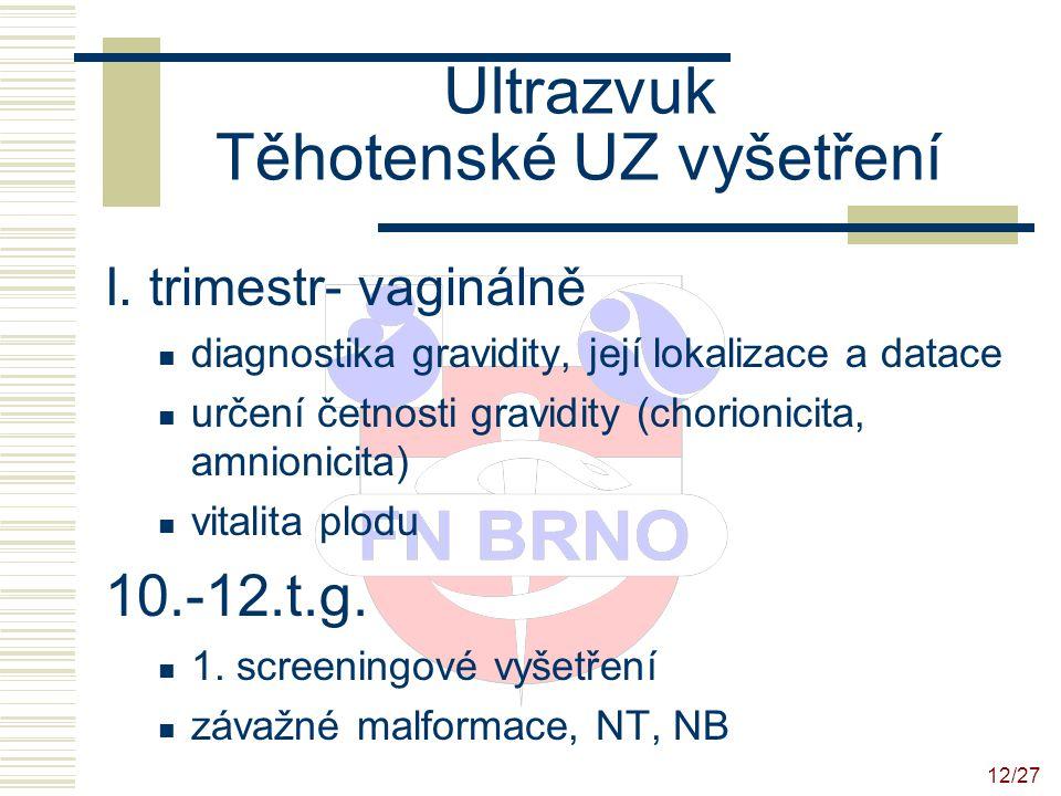 Ultrazvuk Těhotenské UZ vyšetření