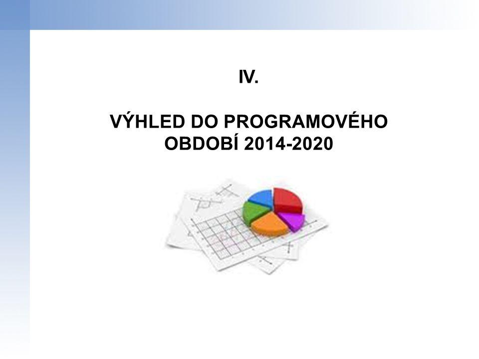VÝHLED DO PROGRAMOVÉHO OBDOBÍ 2014-2020