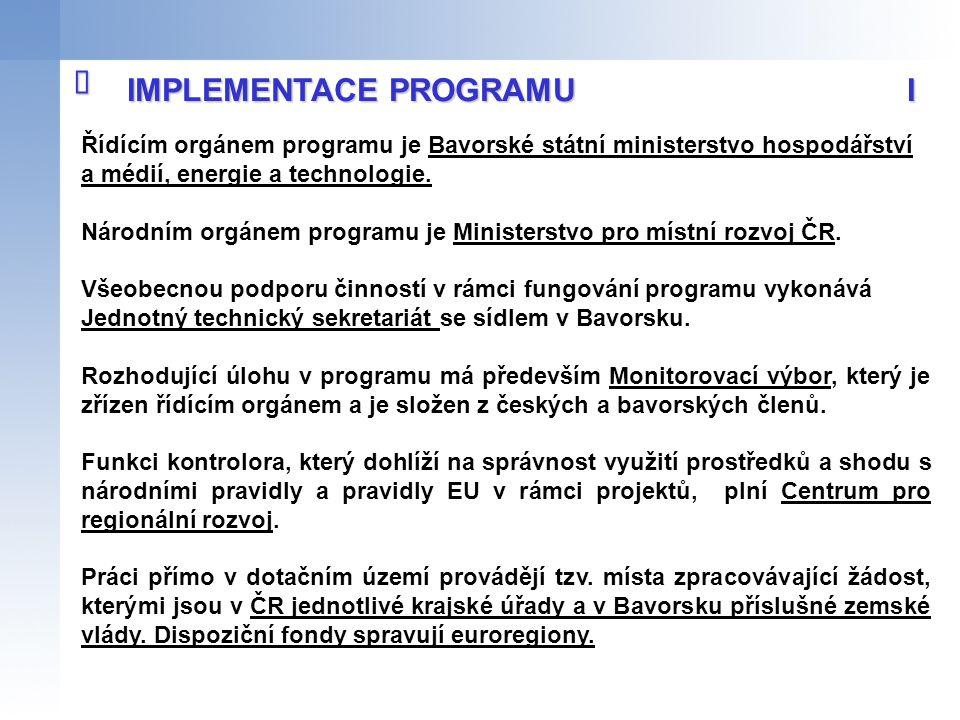 IMPLEMENTACE PROGRAMU I