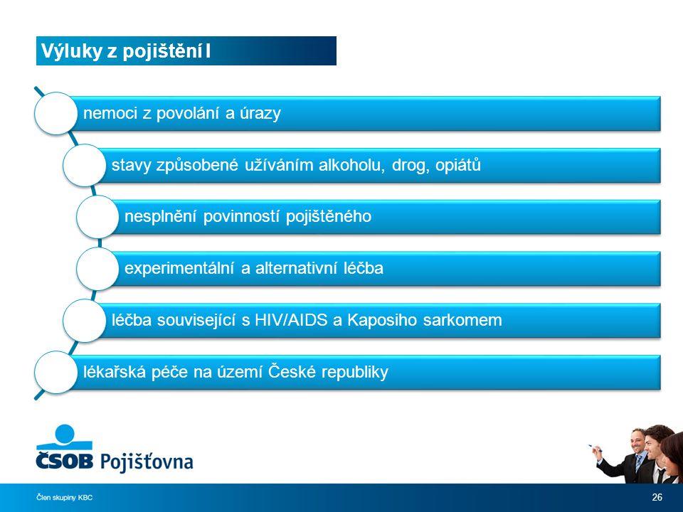 Výluky z pojištění I nemoci z povolání a úrazy
