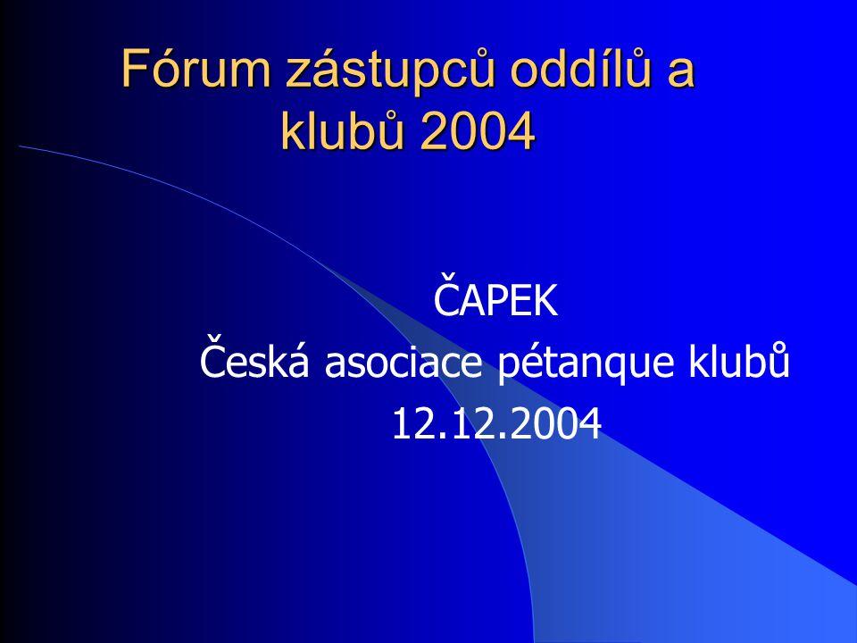 Fórum zástupců oddílů a klubů 2004