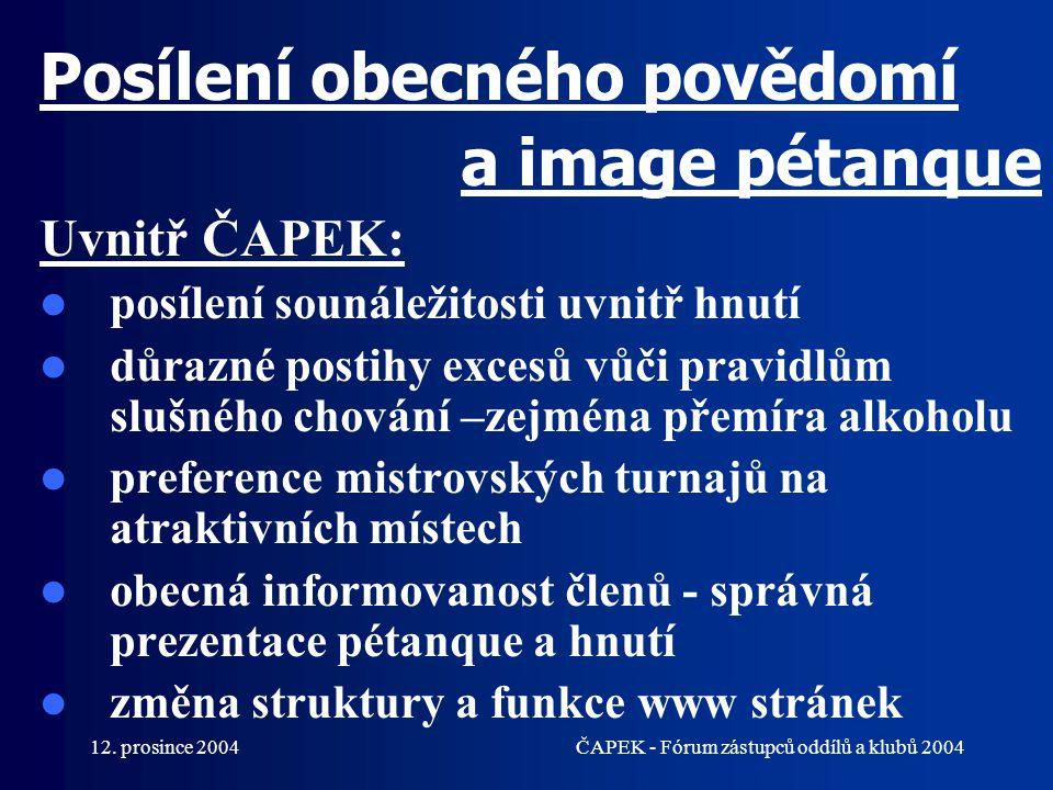Posílení obecného povědomí a image pétanque