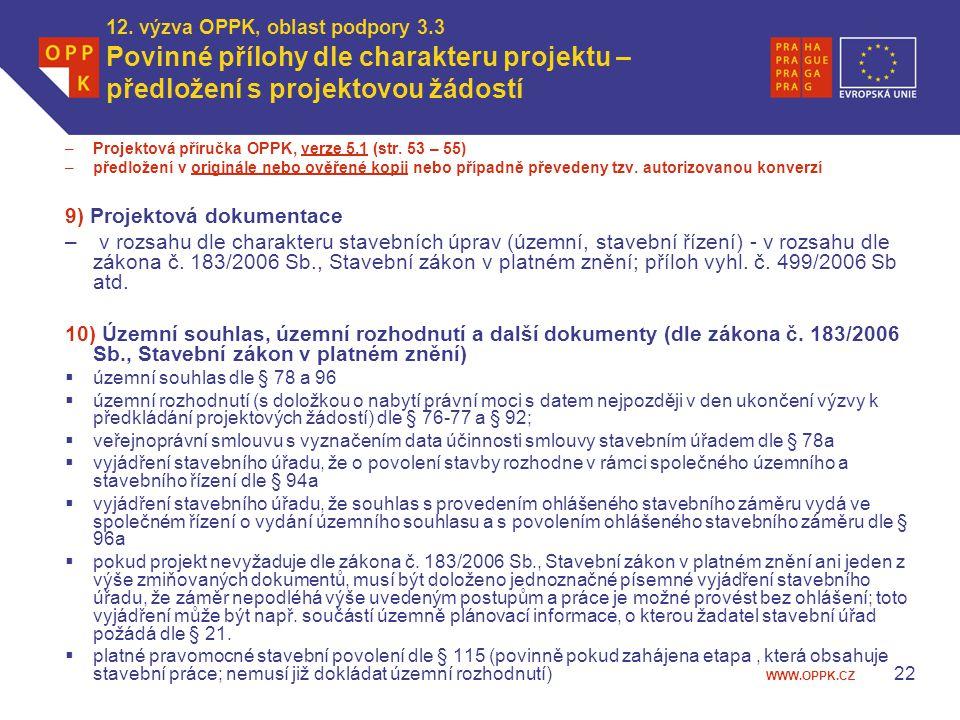 9) Projektová dokumentace