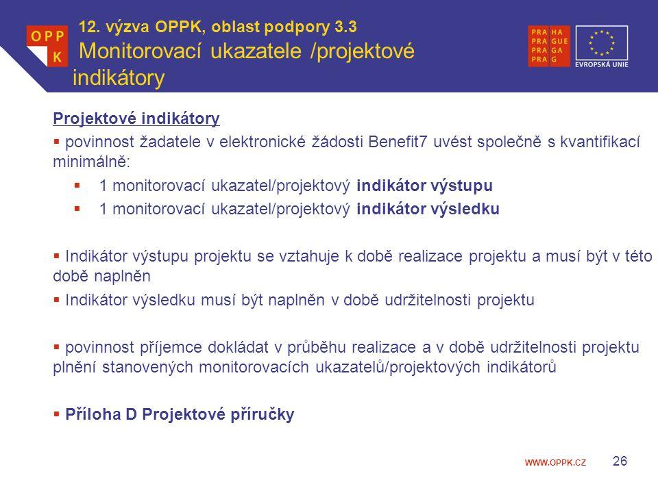 12. výzva OPPK, oblast podpory 3