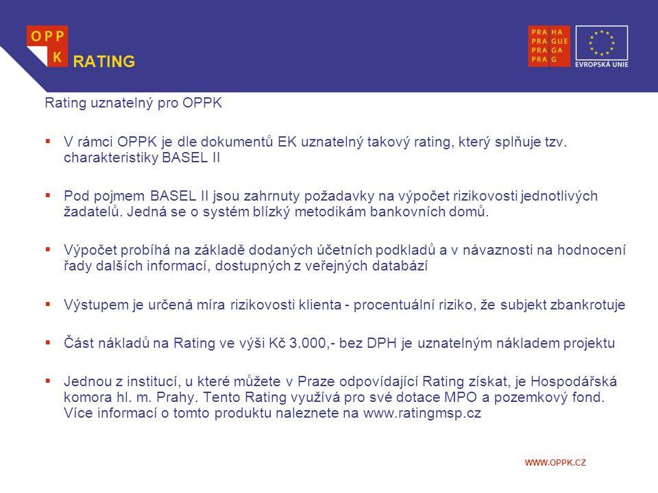 RATING Rating uznatelný pro OPPK