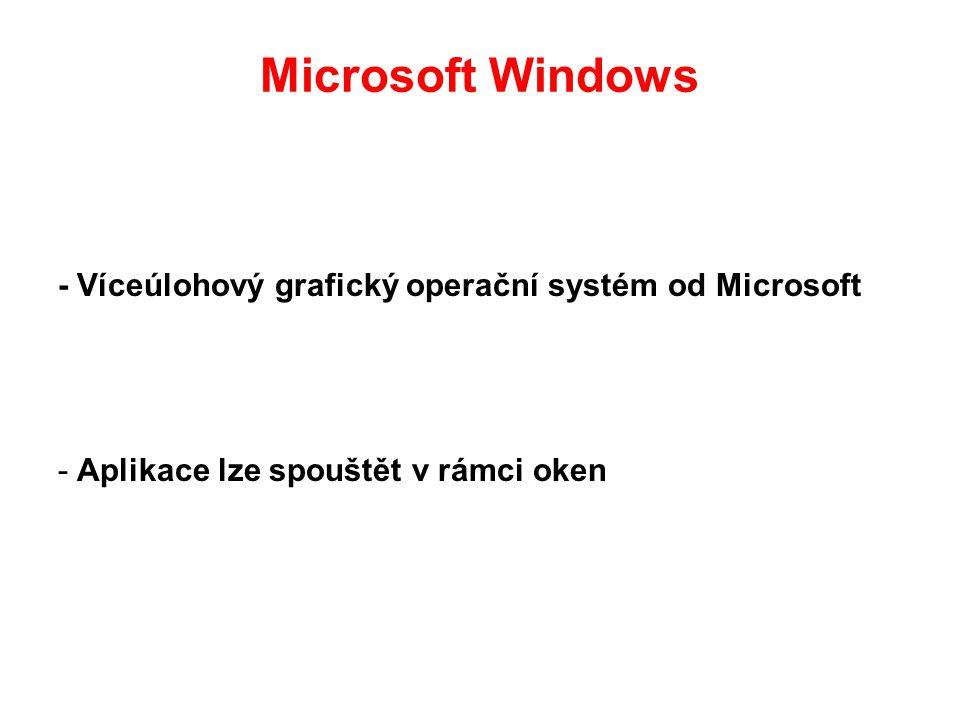 Microsoft Windows - Víceúlohový grafický operační systém od Microsoft