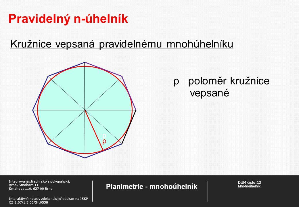 Planimetrie - mnohoúhelník