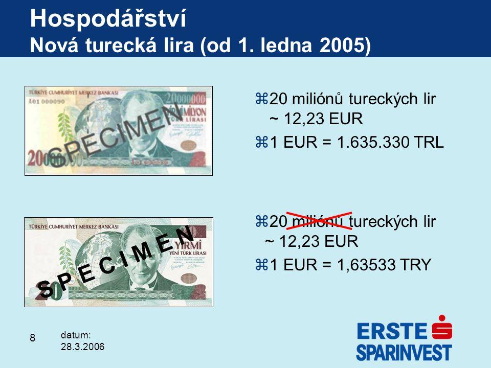 Hospodářství Nová turecká lira (od 1. ledna 2005)