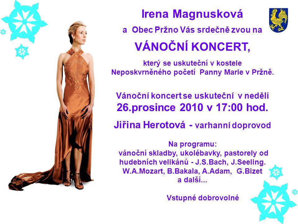 Irena Magnusková VÁNOČNÍ KONCERT,