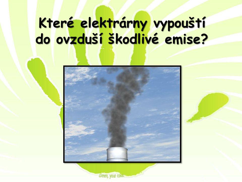 Které elektrárny vypouští do ovzduší škodlivé emise