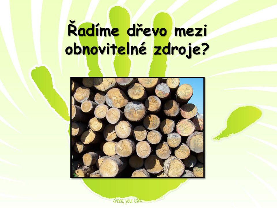 Řadíme dřevo mezi obnovitelné zdroje