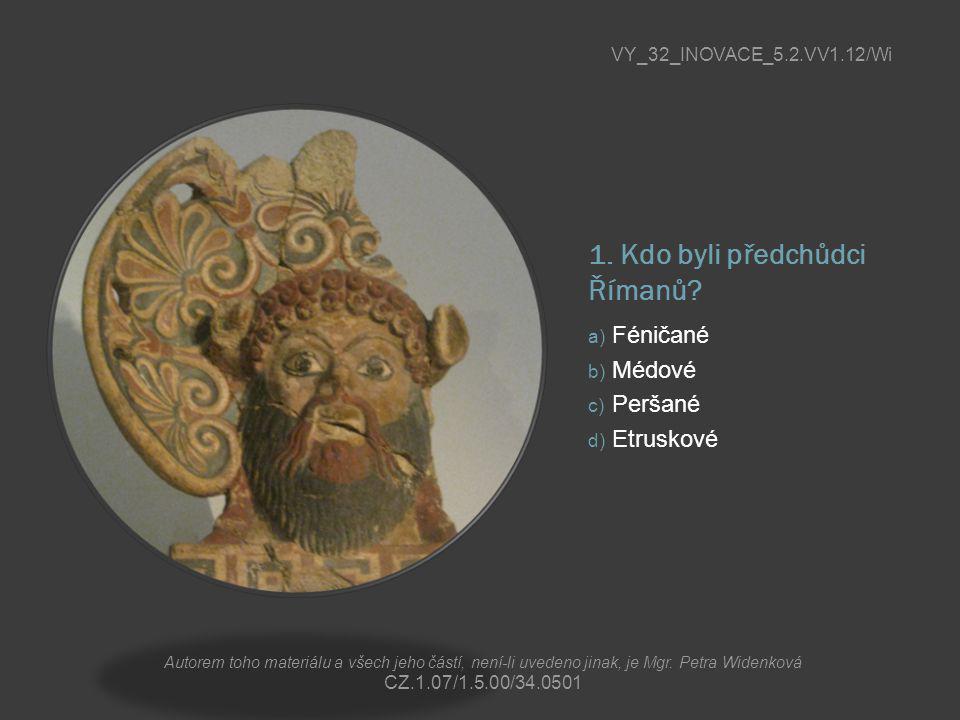 1. Kdo byli předchůdci Římanů