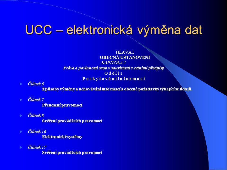 UCC – elektronická výměna dat