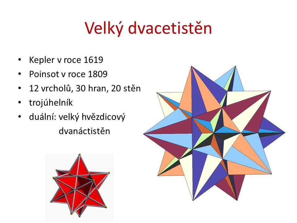 Velký dvacetistěn Kepler v roce 1619 Poinsot v roce 1809