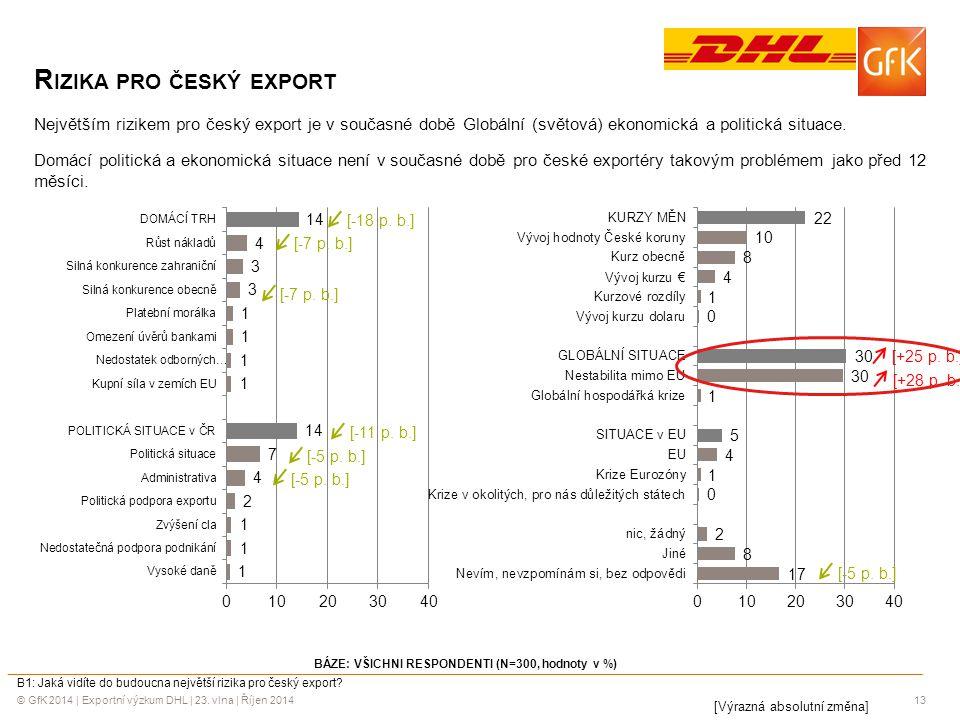 Rizika pro český export