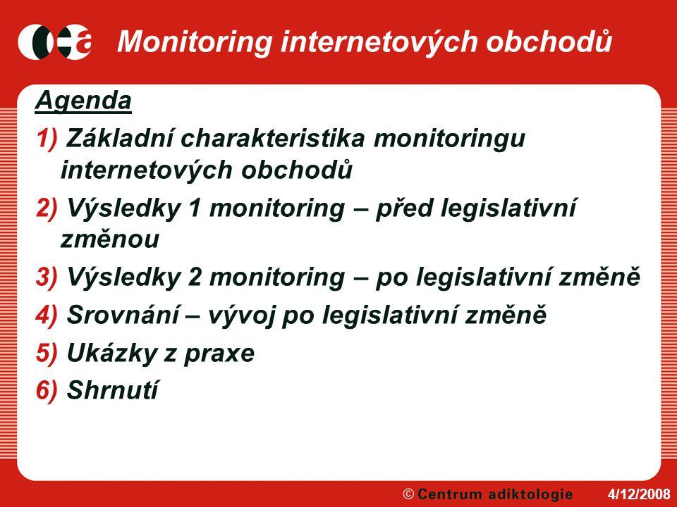 Monitoring internetových obchodů