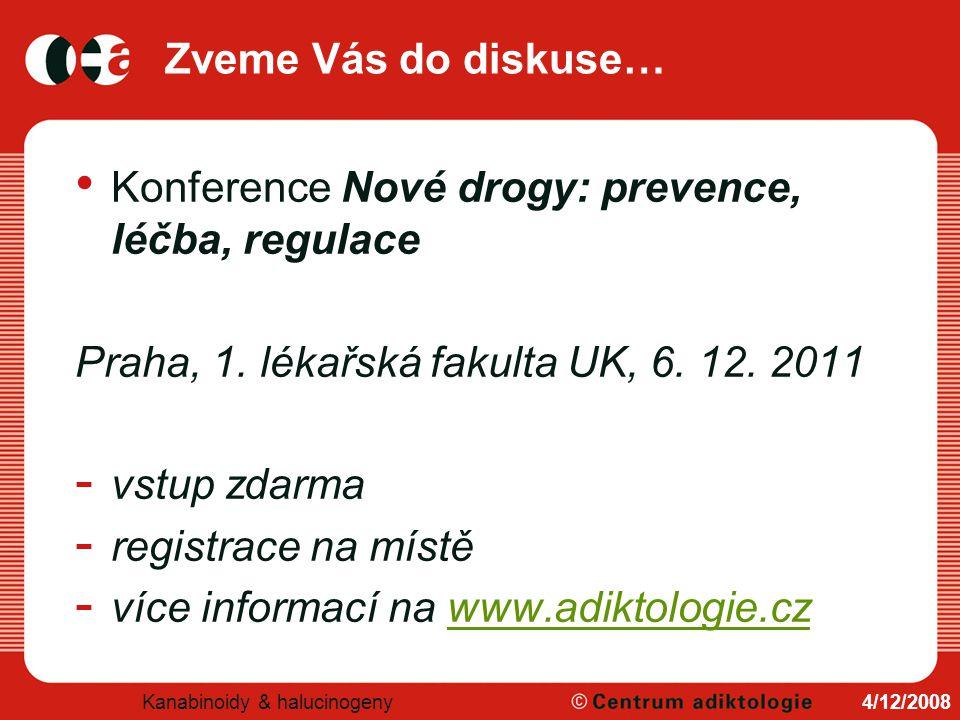 Konference Nové drogy: prevence, léčba, regulace