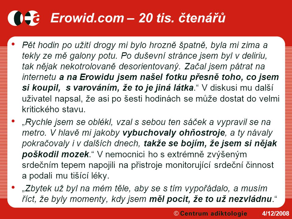 Erowid.com – 20 tis. čtenářů