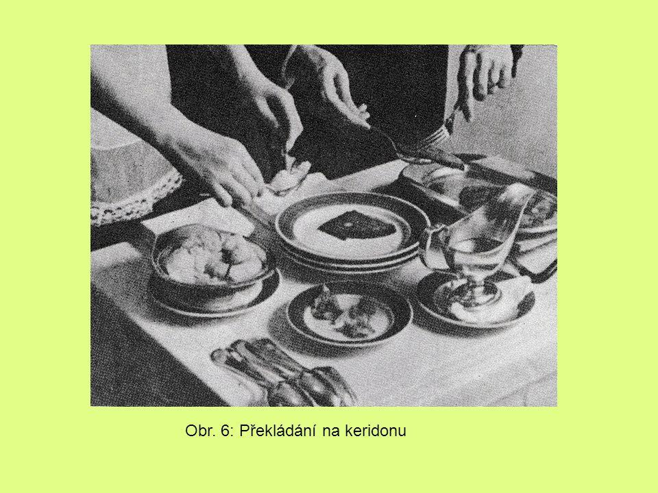 Obr. 6: Překládání na keridonu