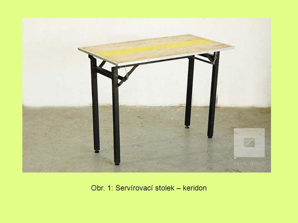 Obr. 1: Servírovací stolek – keridon