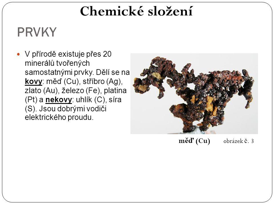 Chemické složení PRVKY