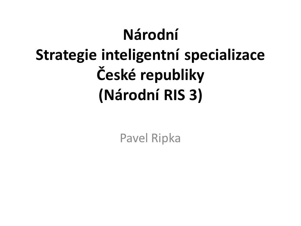 Národní Strategie inteligentní specializace České republiky (Národní RIS 3)