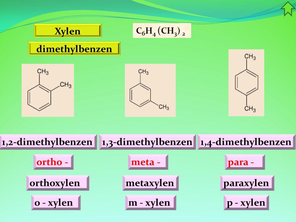 Xylen dimethylbenzen 1,2-dimethylbenzen 1,3-dimethylbenzen