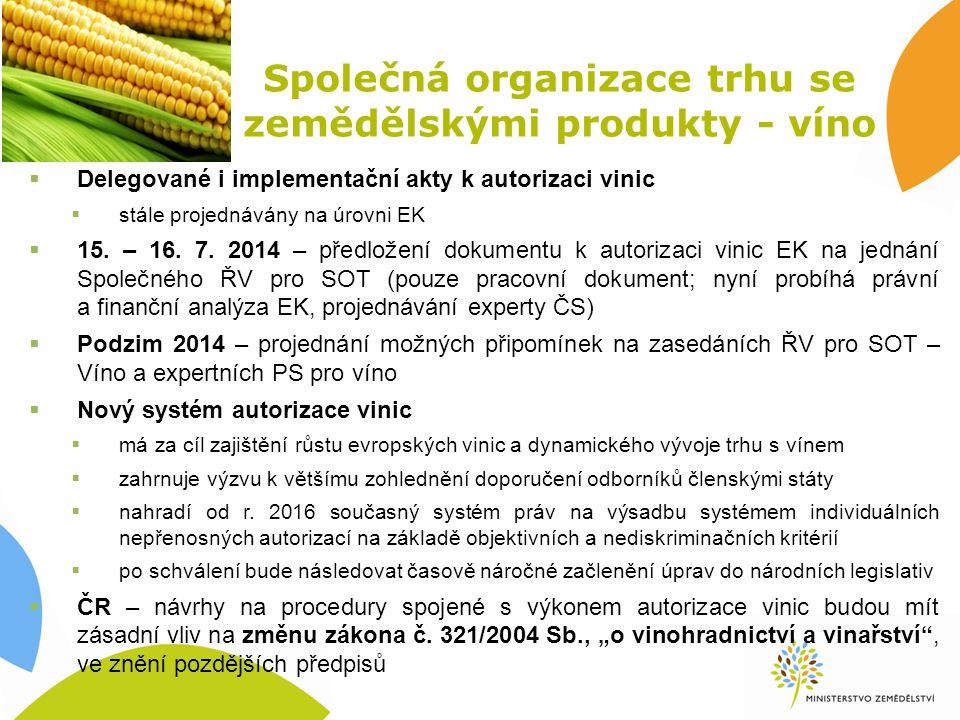 Společná organizace trhu se zemědělskými produkty - víno
