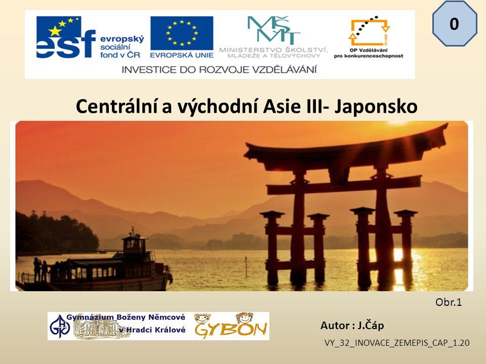 Centrální a východní Asie III- Japonsko