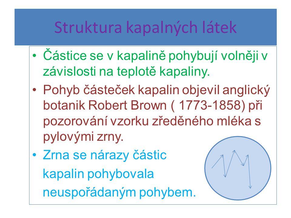 Struktura kapalných látek