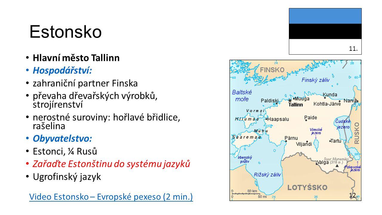 Estonsko Hlavní město Tallinn Hospodářství: zahraniční partner Finska