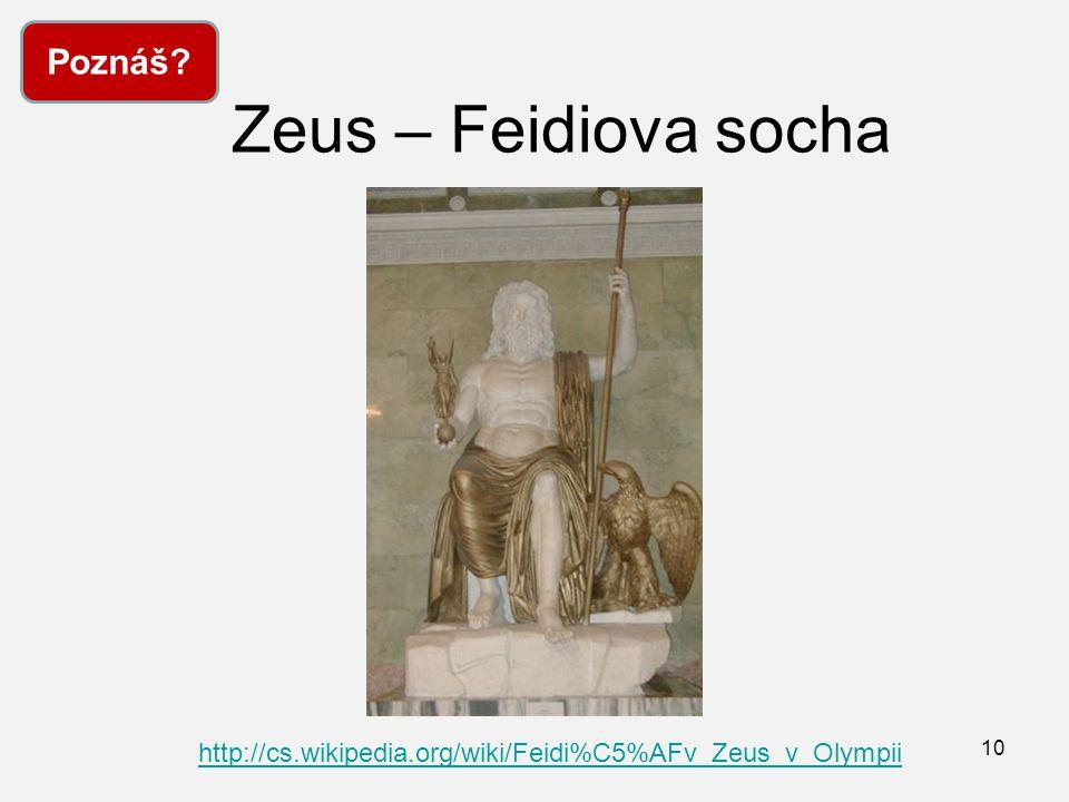 Zeus – Feidiova socha Poznáš