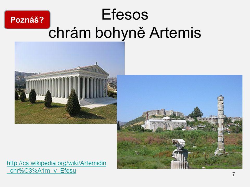 Efesos chrám bohyně Artemis