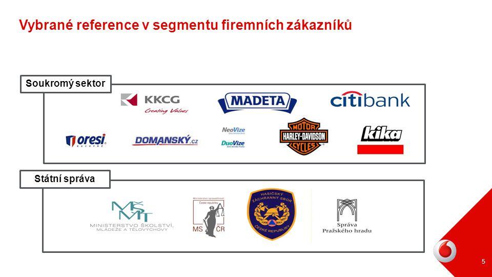 Vybrané reference v segmentu firemních zákazníků
