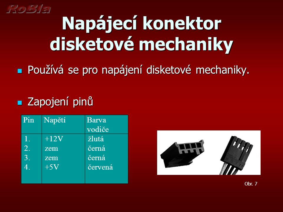 Napájecí konektor disketové mechaniky