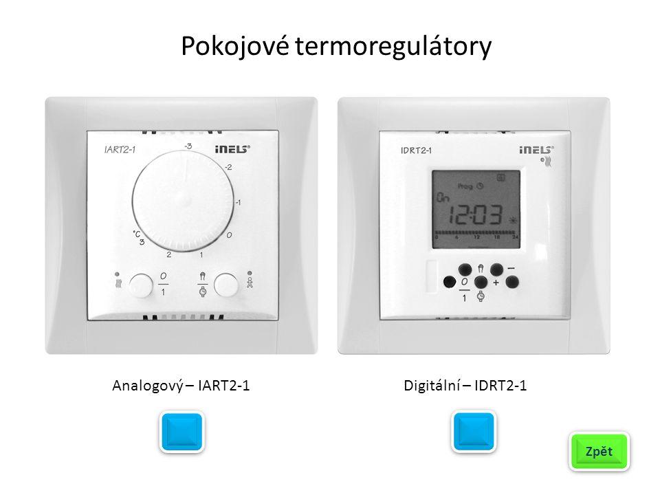 Pokojové termoregulátory