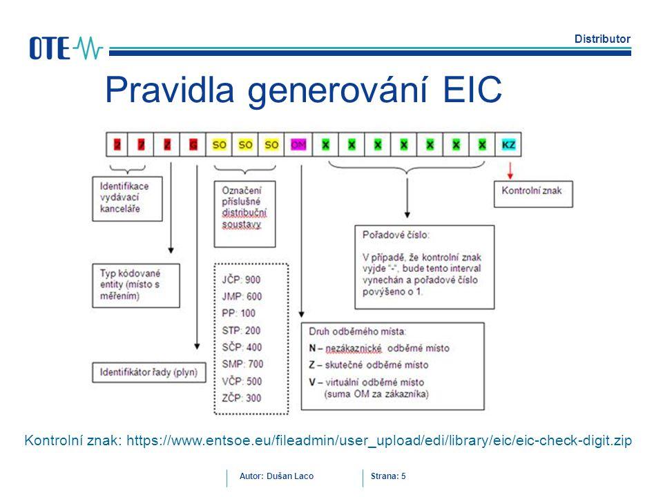 Pravidla generování EIC