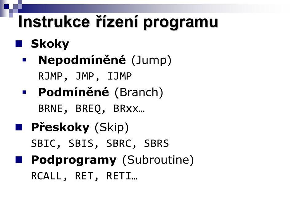Instrukce řízení programu