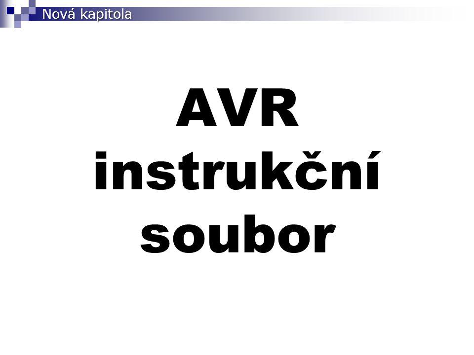 Nová kapitola AVR instrukční soubor