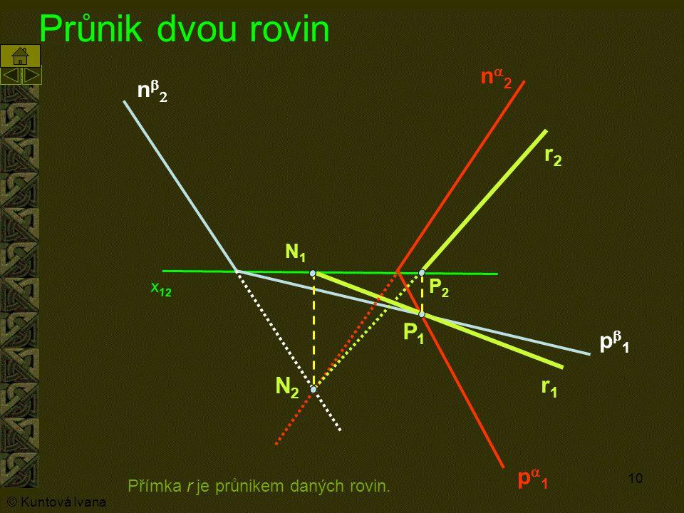 Průnik dvou rovin na2 nb2 r2 P1 pb1 N2 r1 pa1 N1 P2 x12