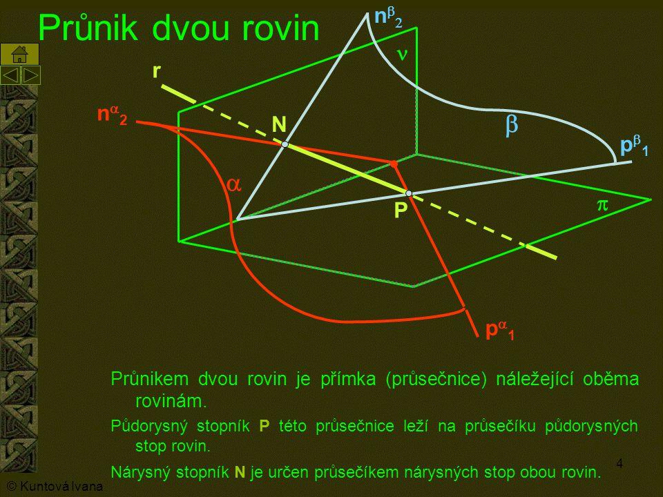 Průnik dvou rovin b a nb2 n r na2 N pb1 p P pa1