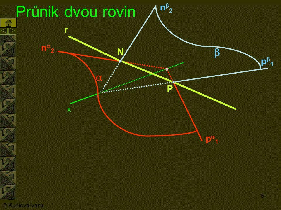 Průnik dvou rovin nb2 a pa1 r N P b x na2 pb1 © Kuntová Ivana