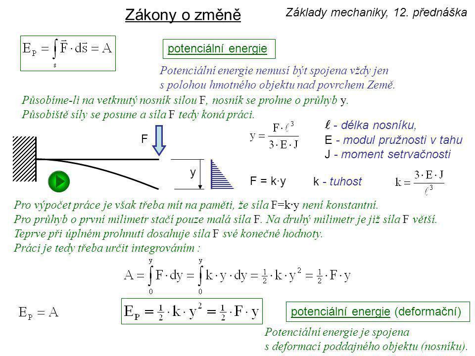 Zákony o změně l - délka nosníku, Základy mechaniky, 12. přednáška