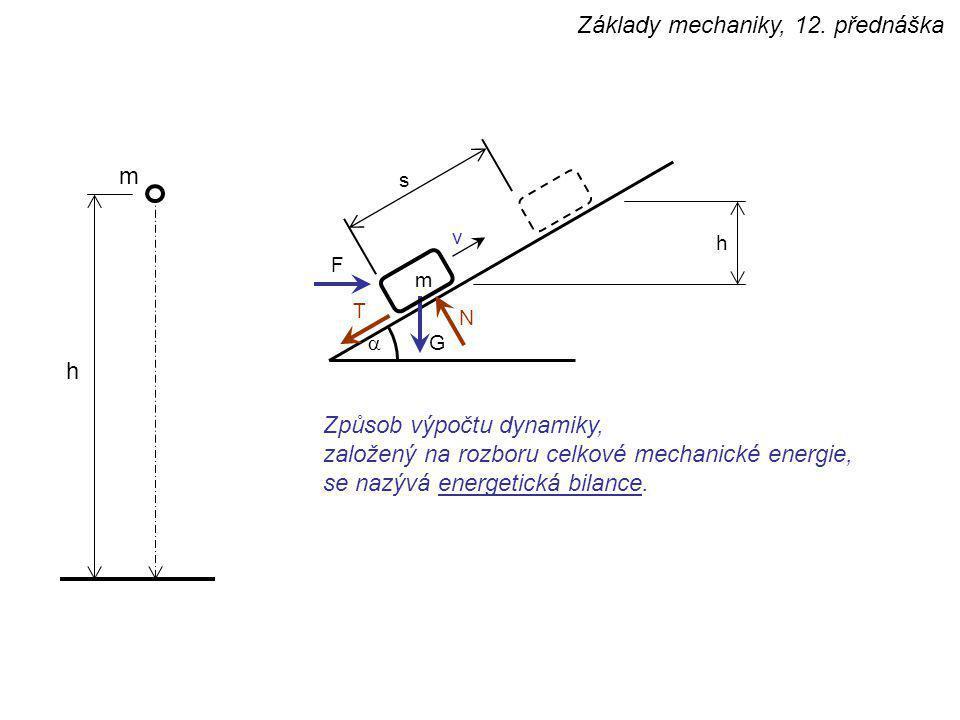 Základy mechaniky, 12. přednáška