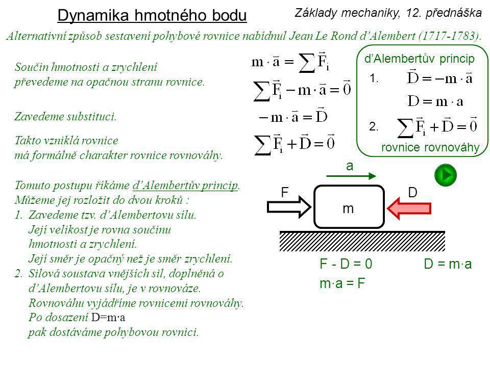 Dynamika hmotného bodu