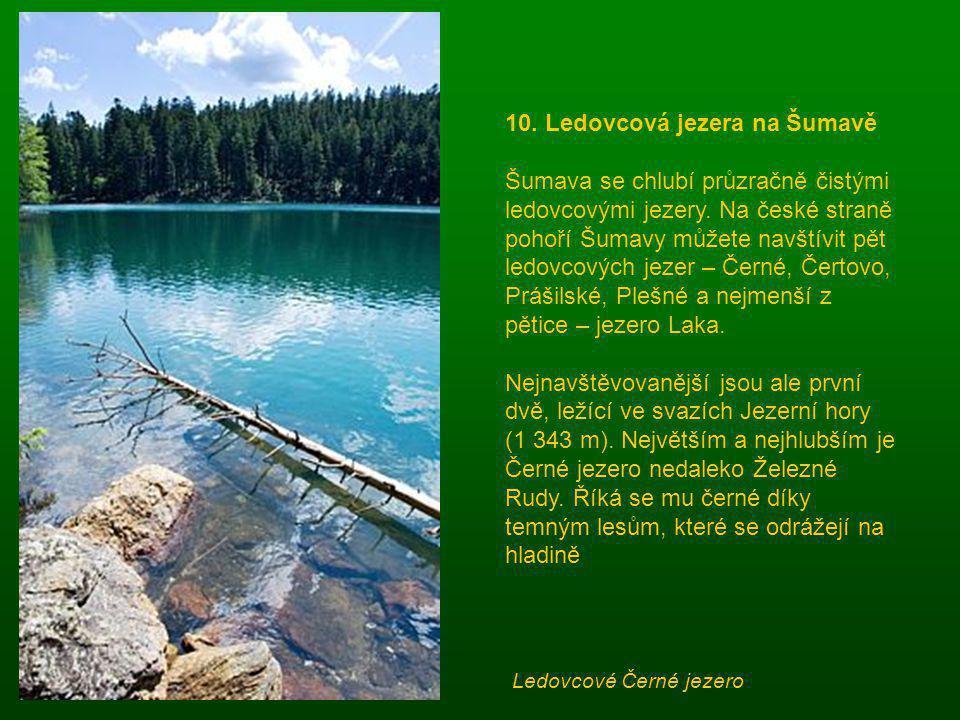 10. Ledovcová jezera na Šumavě